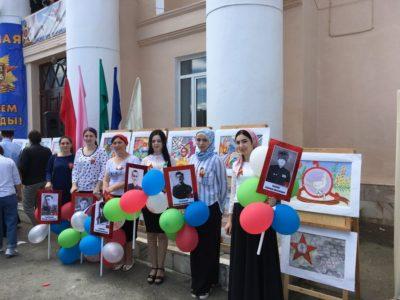 Коллектив и учащиеся художественной школы приняли участие в праздничном мероприятии, посвященной к Дню Победы